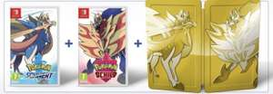 Pokemon Schwert & Pokemon Schild + exklusiv Goldenes Steelbook