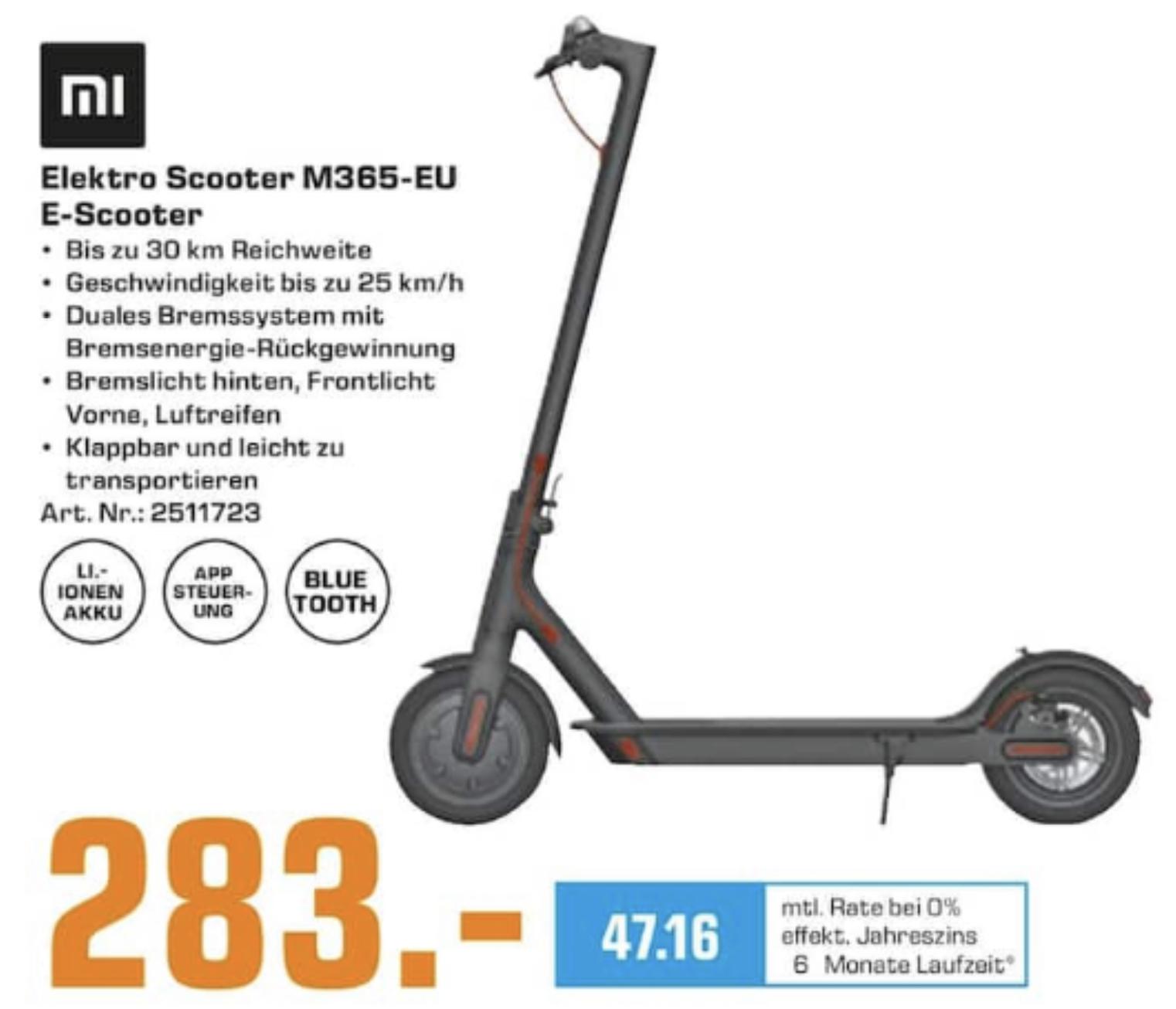 Lokal Saturn Kaiserslautern u. Pforzheim: Xiaomi Mi Electric Scooter M365 Für 283€ oder Xiaomi Mi Electric Scooter Pro für 385€