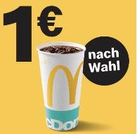 McDonald's 0,5l Softgetränk für nur 1€