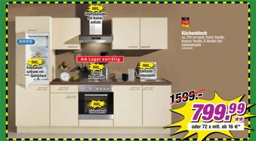 Küchenzeile inkl. E-Geräten bei POCO