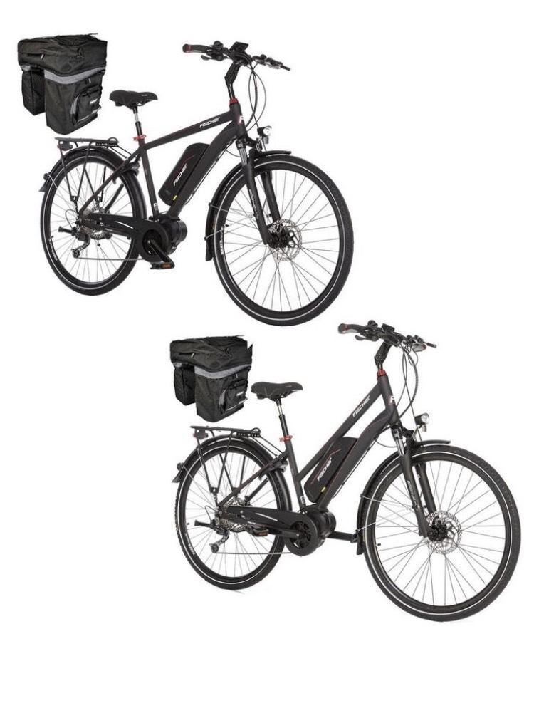 Fischer Fahrrad E-Bike Partnerset ETD ETH 1920, wie ETH 1820 BJ 2019, 9 Gang Shimano XT Schaltwerk, Mittelmotor 250 W + 557Wh Akku