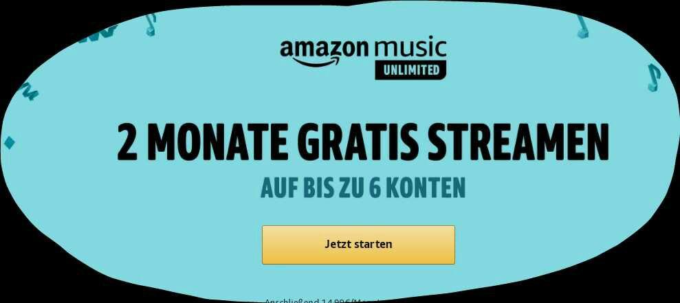 Amazon Music Family 2 Monate frei für Bestandskunden
