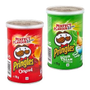 Pringles Sour Cream & Onion oder Original, Kleine 70 g Dose