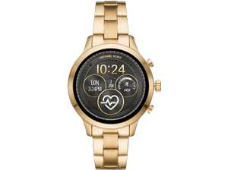 MICHAEL KORS MKT5045 Access Runway Smartwatch Edelstahl, Edelstahl, 190 mm, Gold/Schwarz