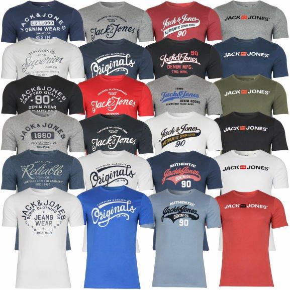 Jack & Jones Herren T-Shirt mit Rundhals Kurzarm Sport für jeweils 9,50€