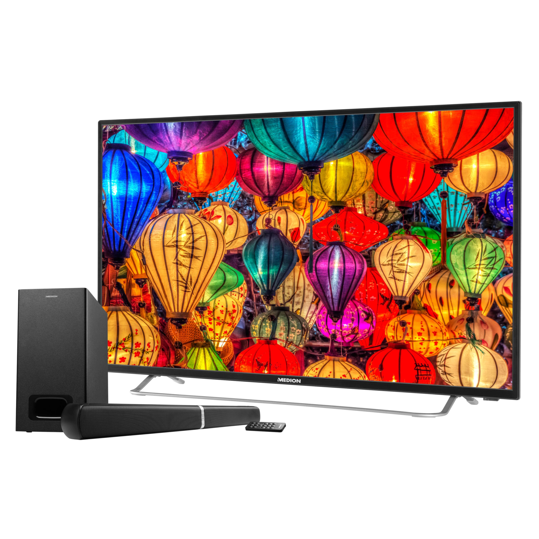 MEDION® LIFE® S16506 TV, 163,8 cm (65''), inkl. Wandhalterung, Full HD, HD Triple Tuner, integrierter Mediaplayer, CI+ (B-Ware)