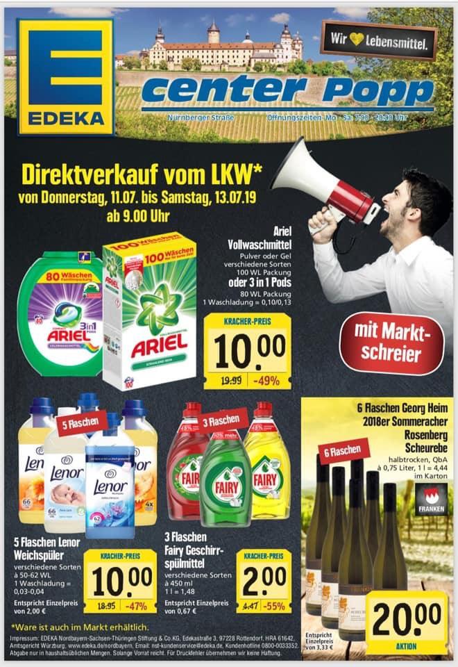 [lokal Würzburg] Ecenter Popp Ariel Colorwaschmittel All-in-1 Pods, Vollwaschmittel,  Lenor, Fairy