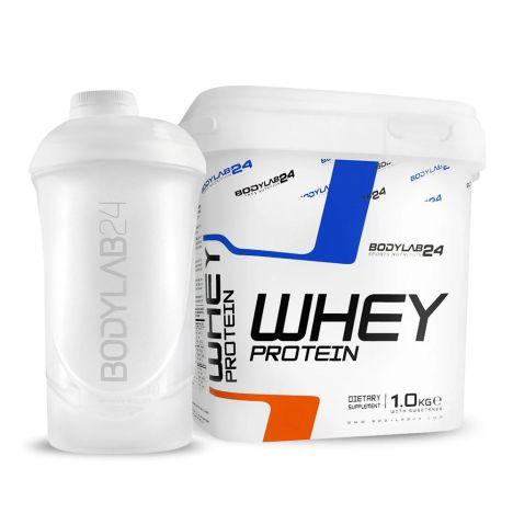 1kg Bodylab24 Whey Protein (vier Sorten) + ein Shaker (~600ml, drei Farben) für 9,99€ versandkostenfrei
