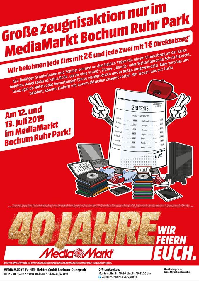 [Lokal Bochum] Große Zeugnis-Aktion bei MediaMarkt im Ruhr Park