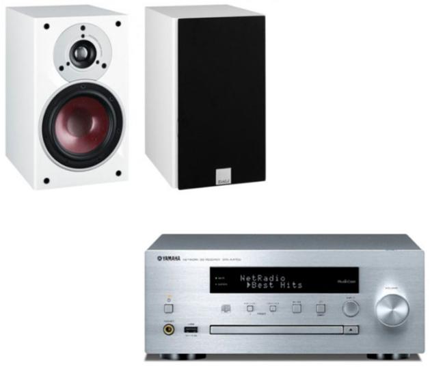 Stereo-Bundle: Verstärker Yamaha CRX-N470D + Regallautsprecher Dali Zensor 1