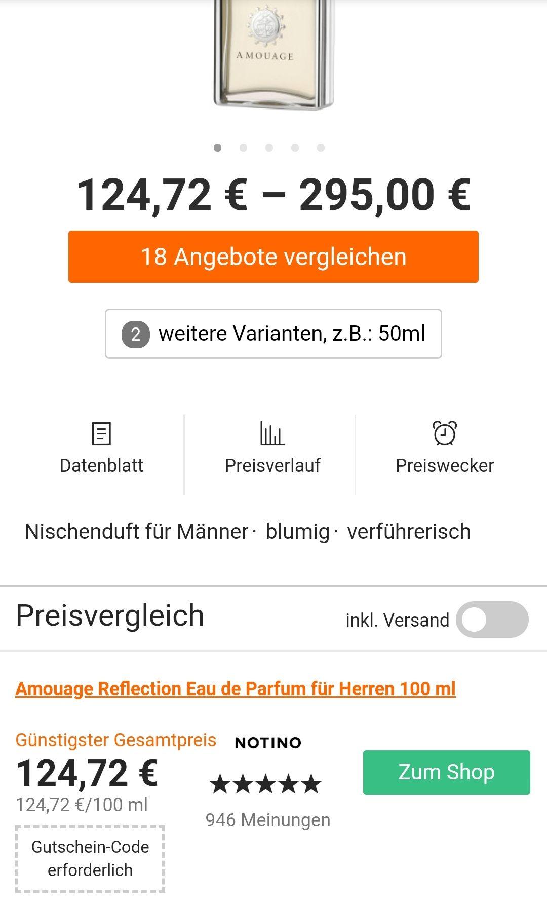 Amouage Reflection Man 100ml 124,72€