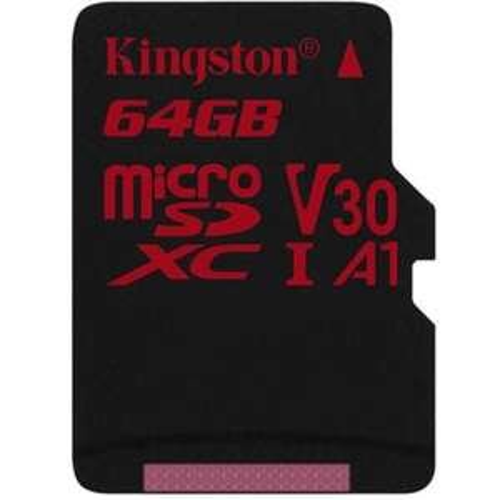 Kingston 64GB Canvas React Micro SD-Karte (SDXC) UHS-I U3 V30 - 100 MB/s [Mymemory]