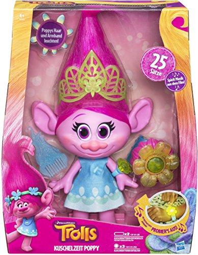 (Prime) Hasbro B6568100 - Trolls Kuschelzeit Poppy Figur 35cm groß