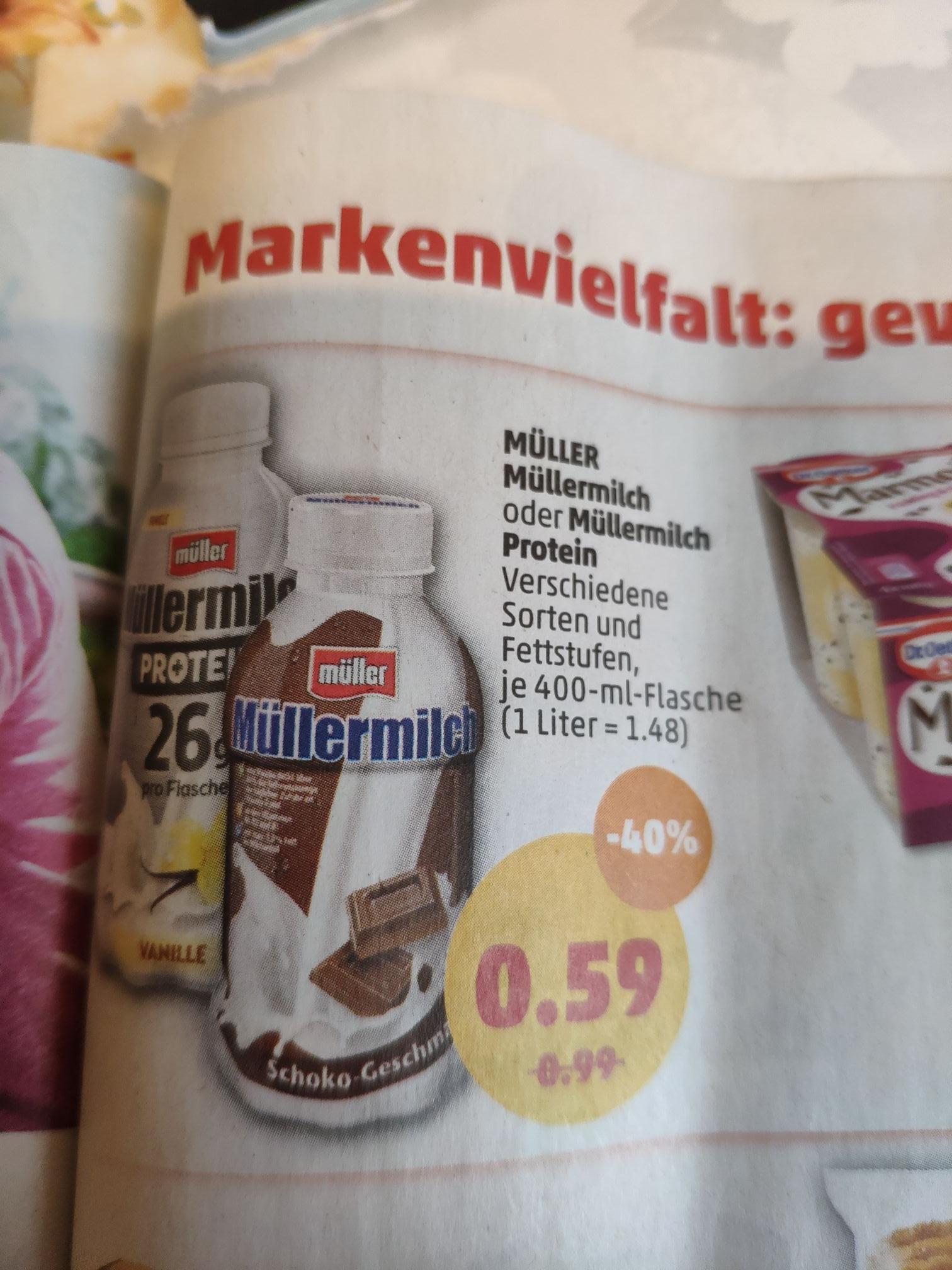(Penny) Müllermilch auch Protein ab den 15.7