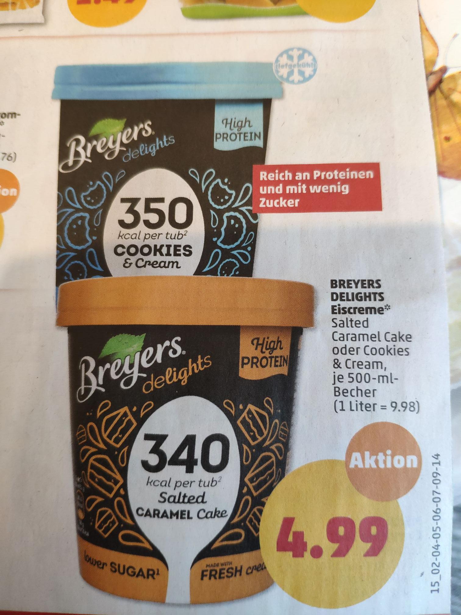 (Penny) Breyers High Protein Eiscreme ab den 15.7