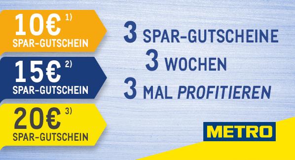 Metro 10+15+20+20€ Gutscheine