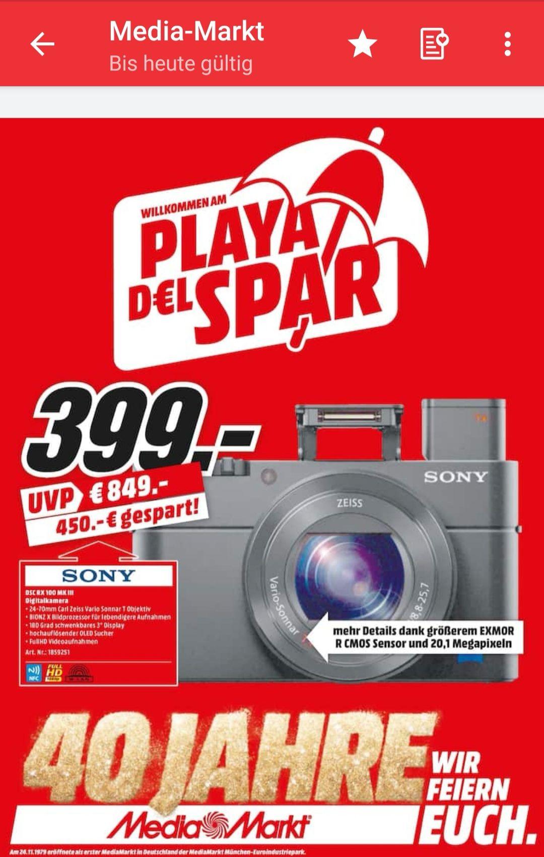 Lokal Media Markt Heilbronn Sony RX100 MK3