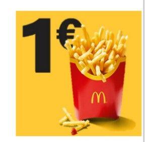 große Portion McDonalds Pommes Frites nur 1€