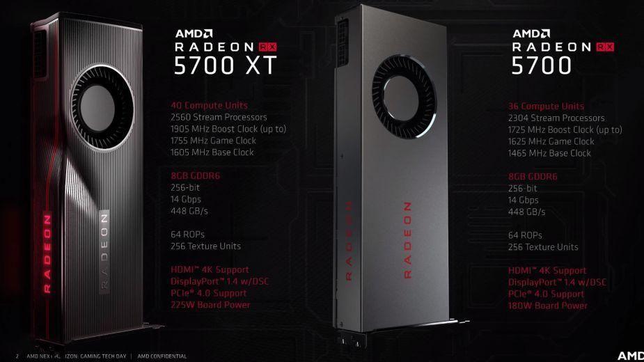 AMD Radeon RX 5700 für 349,23€, 5700 XT für 398,16€
