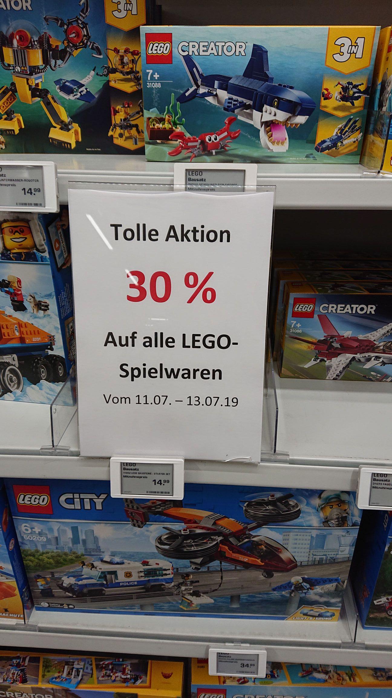 30 Prozent auf alle lego bei Saturn lokal in Bochum!