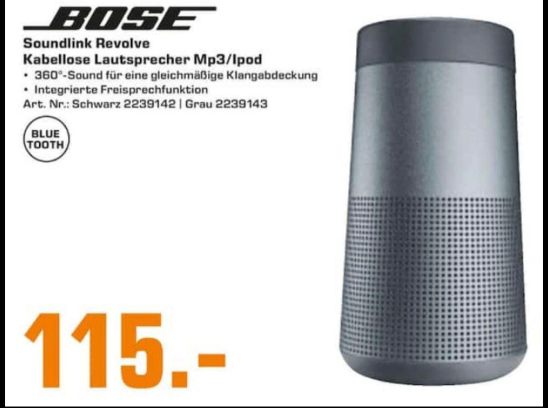 [Lokal Saturn Trier] Bose Soundlink Revolve - Bose Solo 5 Soundbar - Bose Soundbar 500 + Bass Module 500