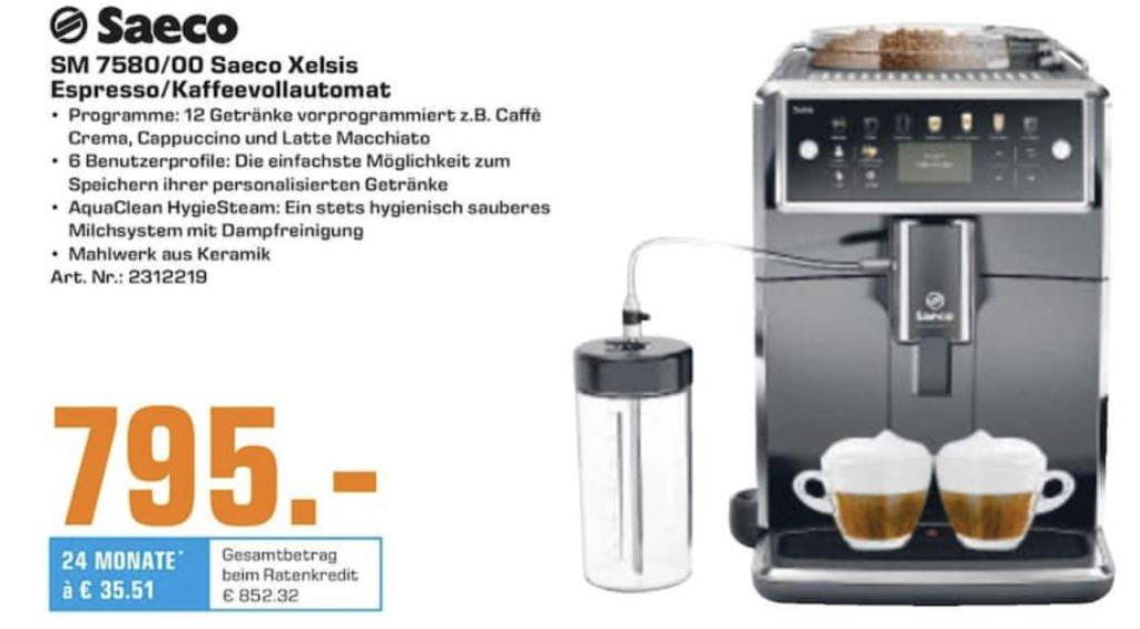 [Lokal Saturn Trier] Saeco SM 7580/00 Xelsis Espresso / Kaffeevollautomat für 795€