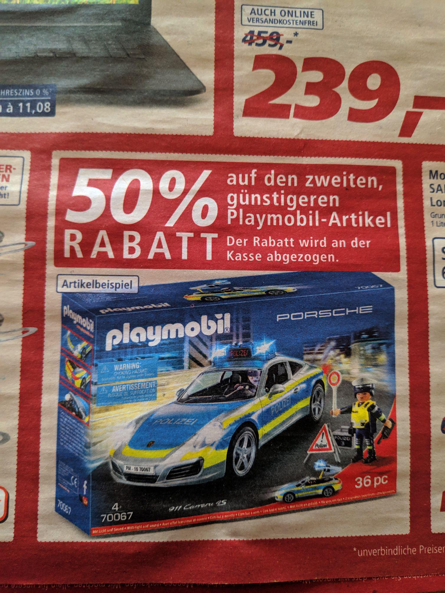 Real 50% auf den zweiten, günstigeren Playmobil Artikel (bundesweit?!)