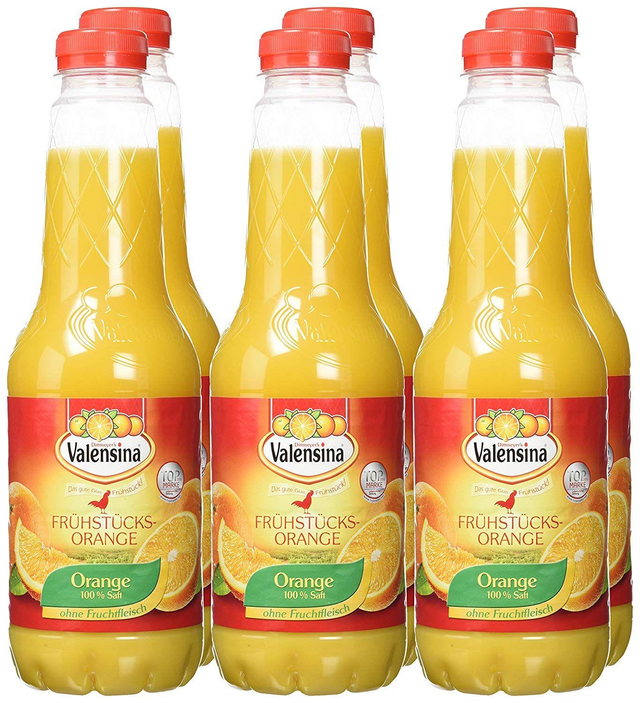 Valensina Säfte verschiedene Sorten 6x 1l für 5€ (83 Cent pro Flasche) bei [Netto MD]