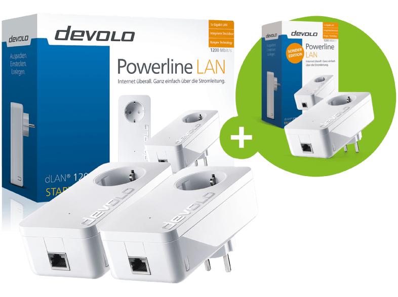 devolo DLAN 1200+ Starterkit & 1x Einzeladapter (insg. 3x Adpater)   TP-Link TL-SG105S 5-Port Gigabit Switch: 13,99€ - Mega Marken Sparen