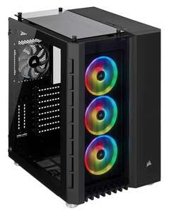 Corsair Crystal 680X RGB Black Midi Tower ATX Gaming Gehäuse mit Seitenfenster