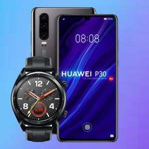 Huawei P30 + Huawei Watch GT (Wert 140€) für 103,99€ ZZ mit Klarmobil Allnet Flat (2GB LTE) mtl. 19,99€ im Vodafone-Netz