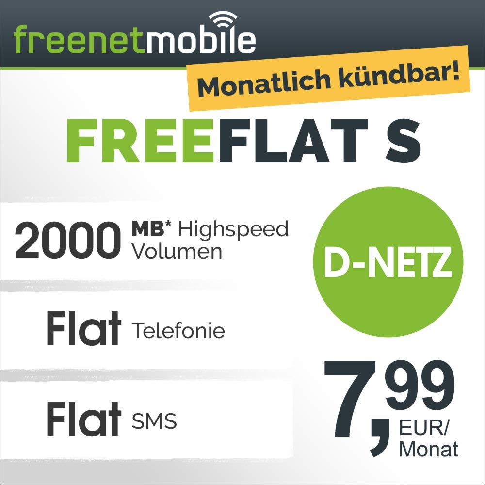 2GB LTE Tarif von freenetmobile im Vodafone-Netz für mtl. 7,99€ (monatlich kündbar, Allnet- & SMS-Flat, keine AG) [Amazon Prime]