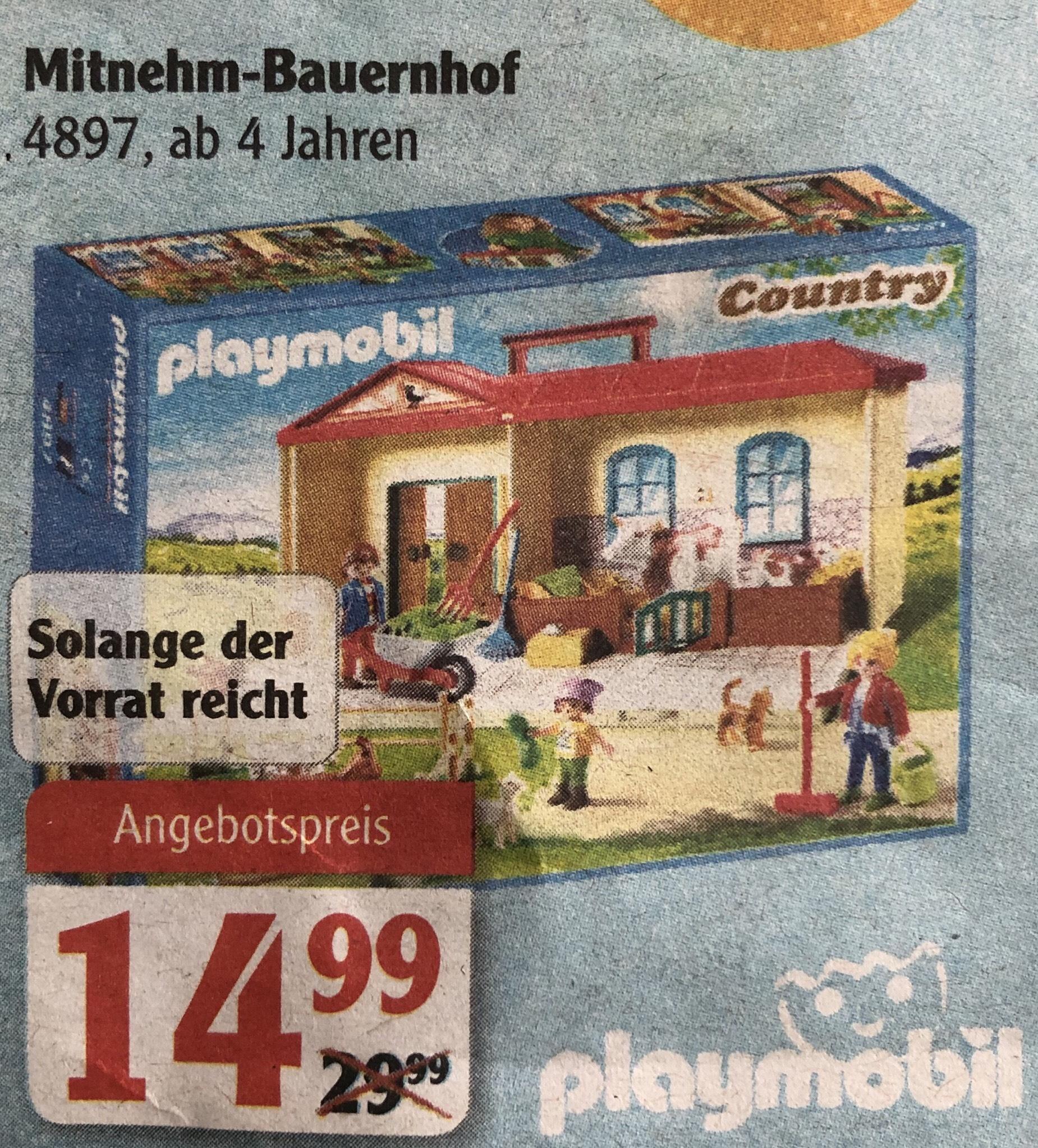 Playmobil Mitnehm-Bauernhof bei Globus