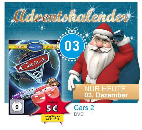 Cars 2 (DVD) Müller Türchen 03.12.