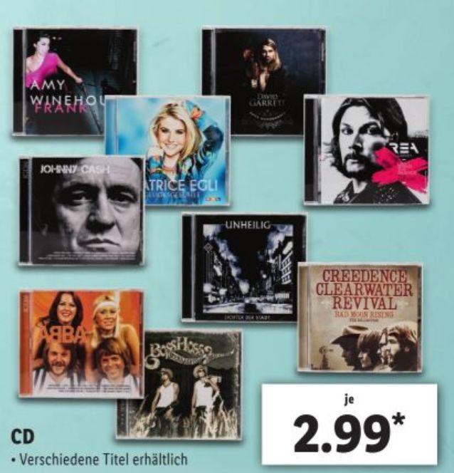 """Verschiedene Alben auf CD für je 2,99€ bei Lidl: z.B. """"Amy Winehouse - Frank"""" oder """"Johnny Cash - Icon"""""""