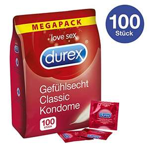 AMAZON BLITZANGEBOT:  Durex Gefühlsecht Kondome (100 Kondome)