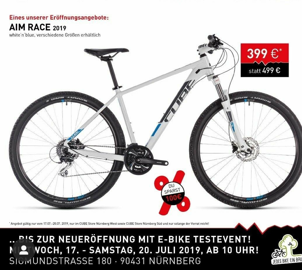Cube Aim Race für 399€ statt 499€ Lokal in Nürnberg