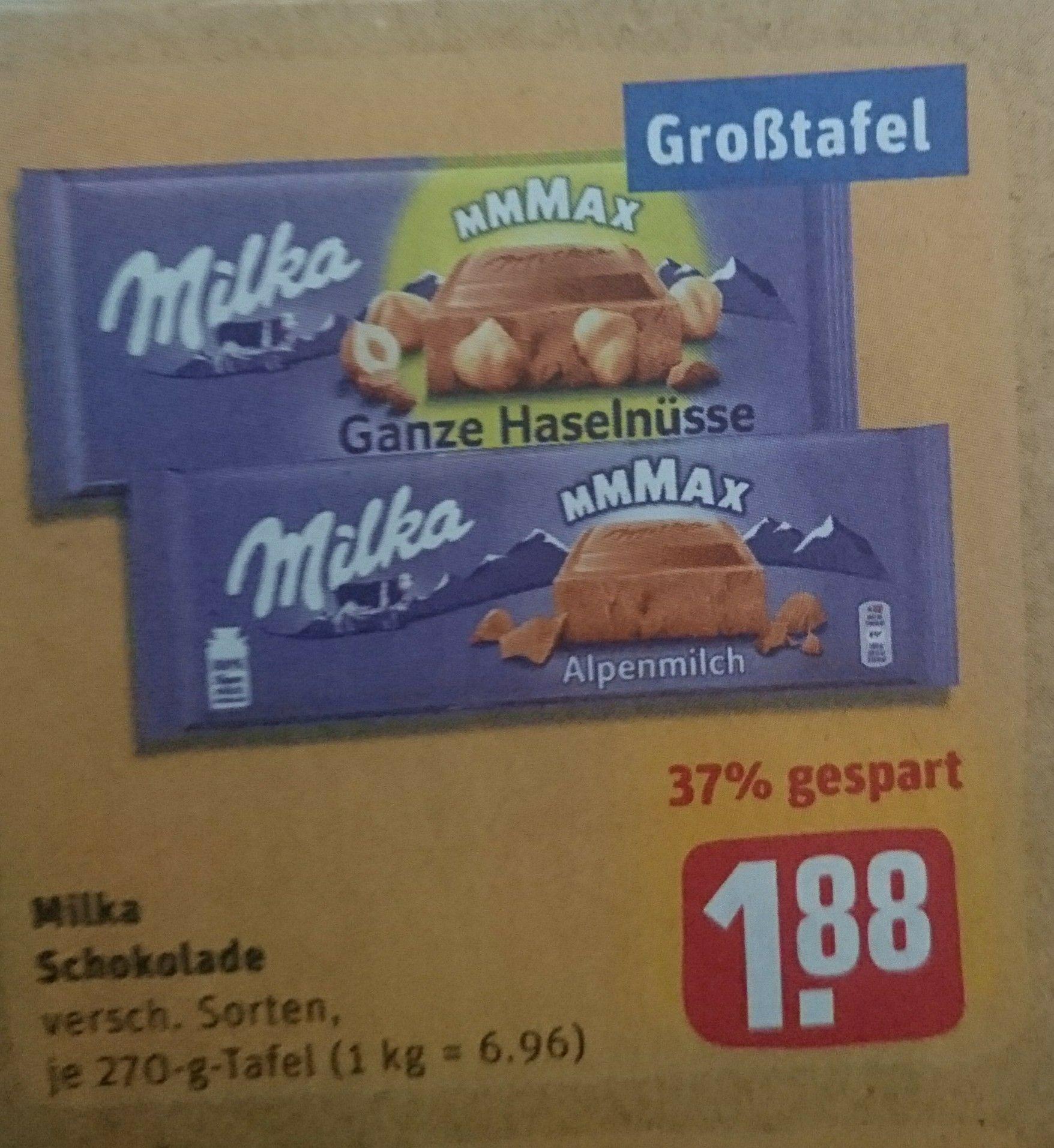 Milka Schokolade 270g Tafel [REWE] [15. - 20.07.2019]