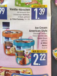 Edeka Bayern  ICE Cream American Cookie Dough usw 500ml Becher