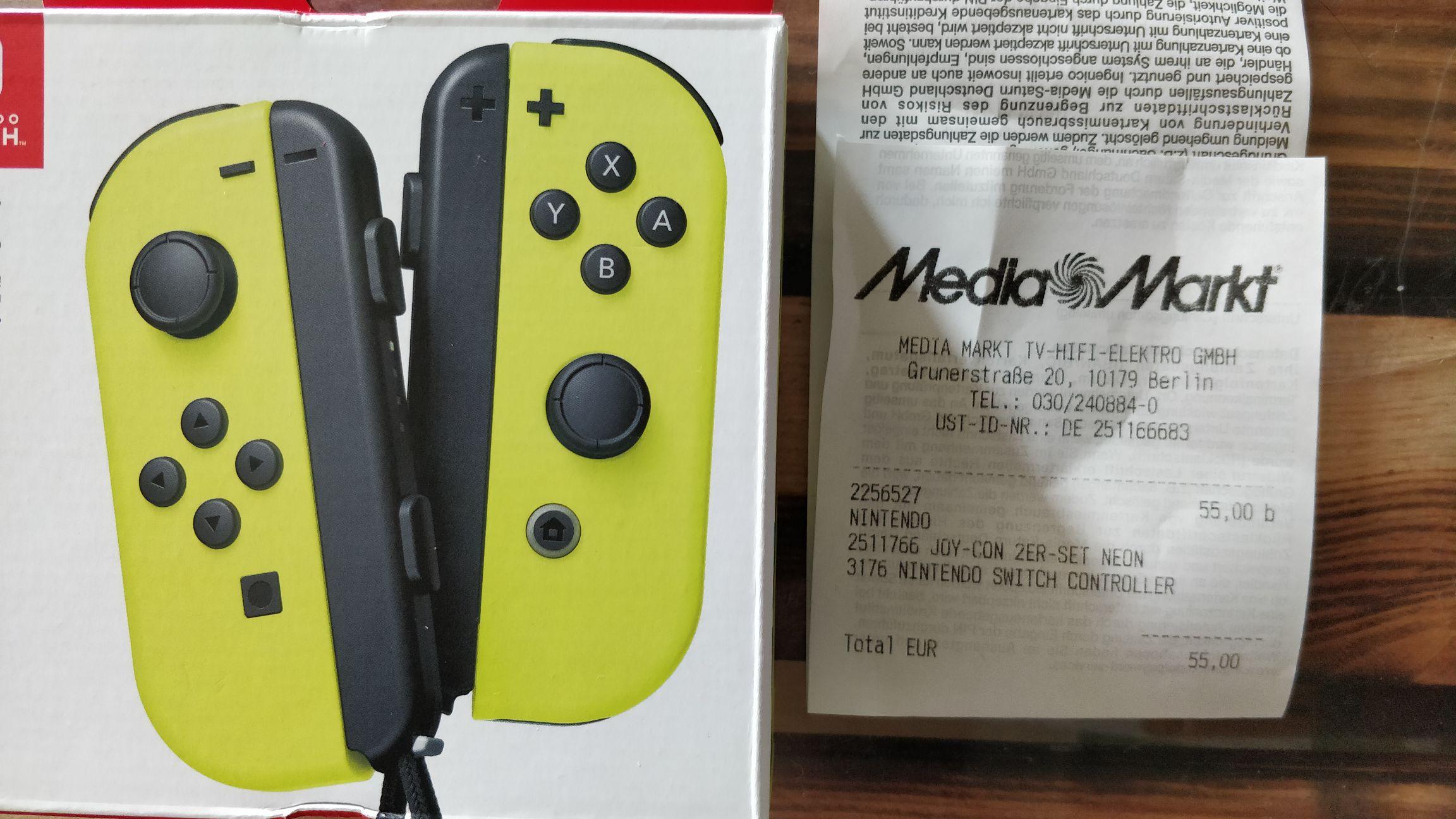Nintendo Switch joy-con 2er Set neon gelb (MM im Alexa in Berlin)