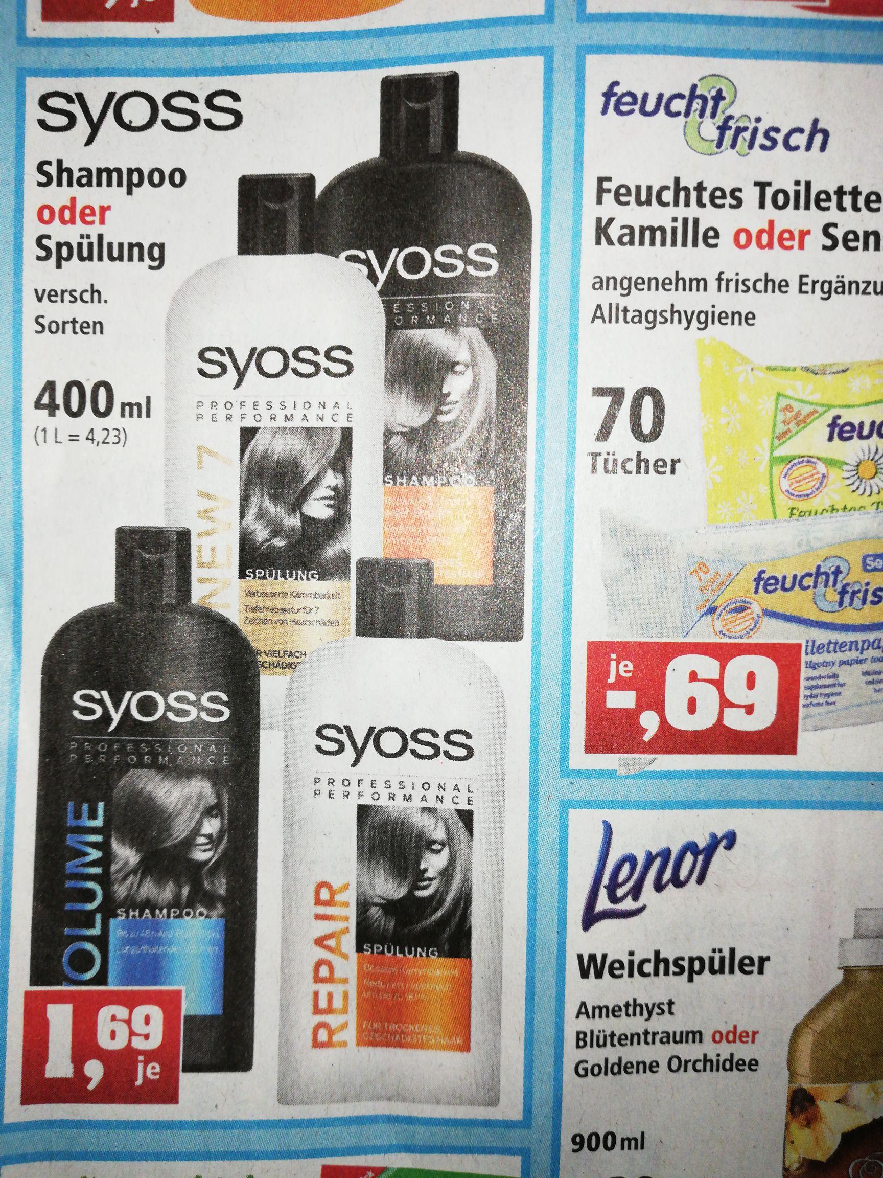 Thomas Philipps Syoss Shampoo oder Spülung 400ml oder bei Rossmann mit Coupon 2x 500ml für 3,13€