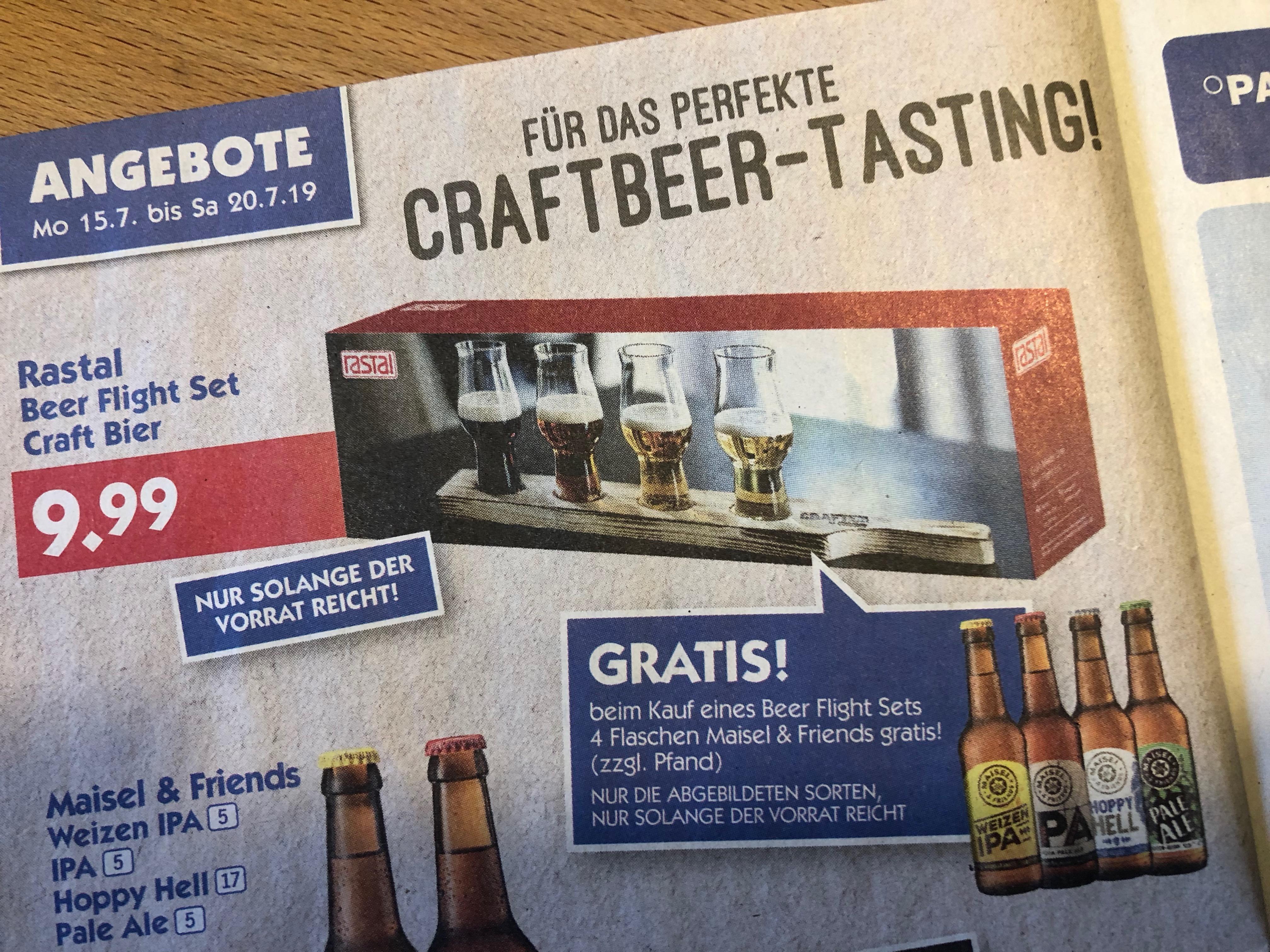 [HOL' AB!] Beer Flight Set - Rastal Craft Bier Tasting Set + 4 Flaschen Mail & Friends