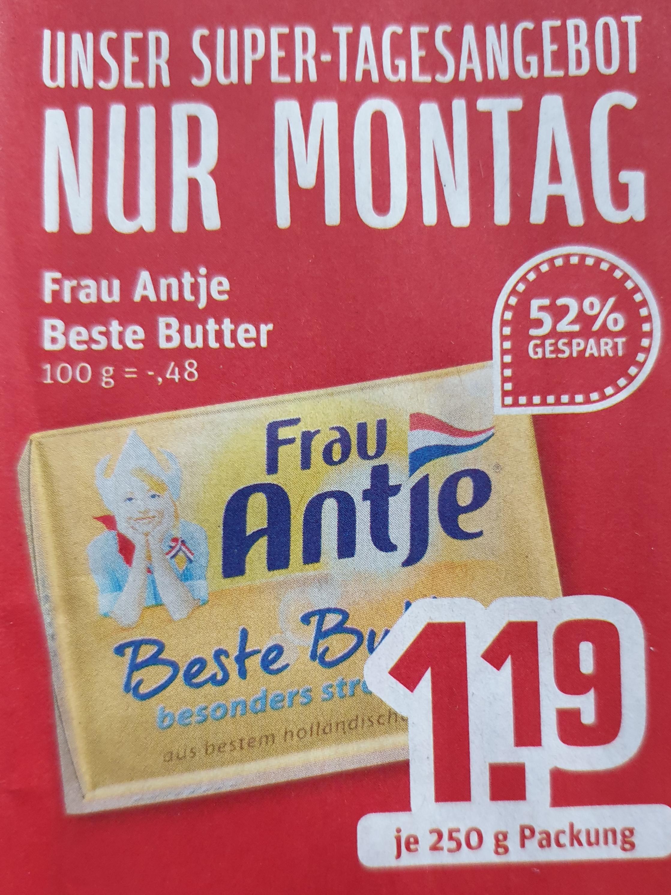 [ Rewe Regional ] Frau Antje Beste Butter 250g ( nur Montag )