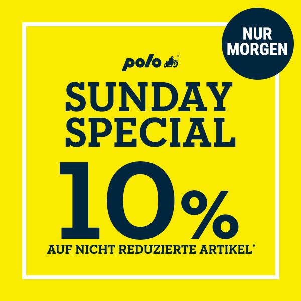 Polo Motorrad: 10% Sunday Special Rabatt in DE/AT/CH (nur online)