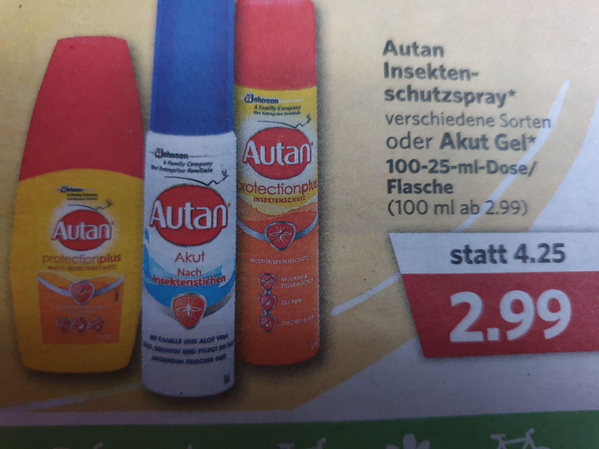 (Jibi/Combi Markt) Autan Insektenschutzspray/Gel für 2,99€ ( lokal)