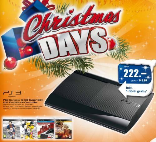 "PS3 12 GB + 1 DualShock-Controller + 1Game frei ca. 185 Euro ""nur"" [Lokal Schweiz]"