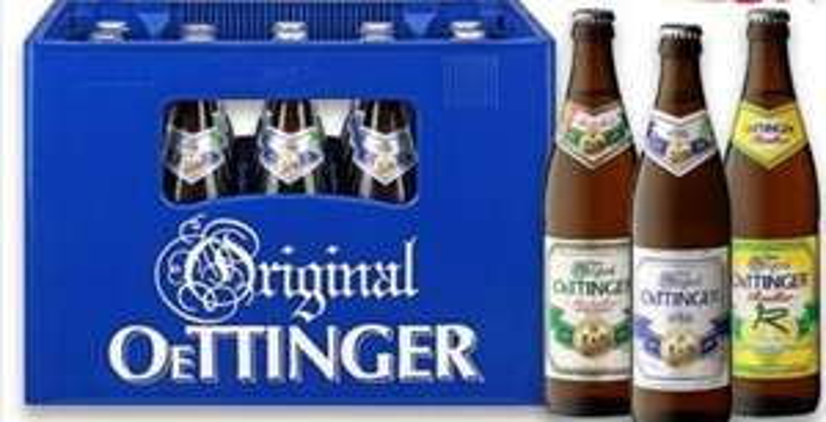 20x0,5l Kasten Oettinger (Pils, Export, Radler) ++ Rockstar Energy für 0,85€