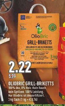 [Marktkauf Rhein-Ruhr offline] Oliobric Grill-Briketts aus Olivenkernen