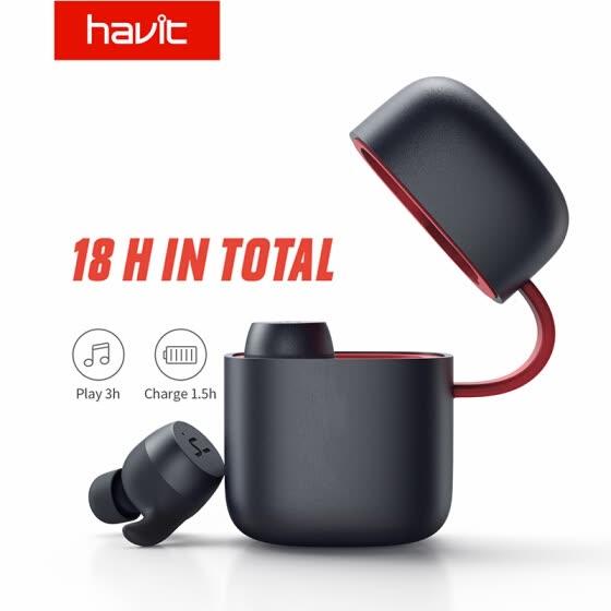 HAVIT TWS Bluetooth Kopfhörer Wireless-Sport Kopfhörer IPX6 Touch Screen Panel Earbuds Mit Mikrofon für Bilateralen anruf G1pro