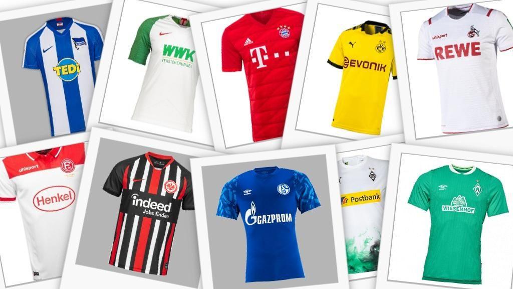 Bundesliga Trikots 19/20 bis 30% reduziert